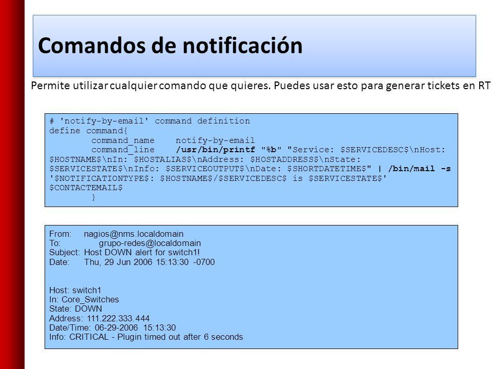 Comandos de notificación