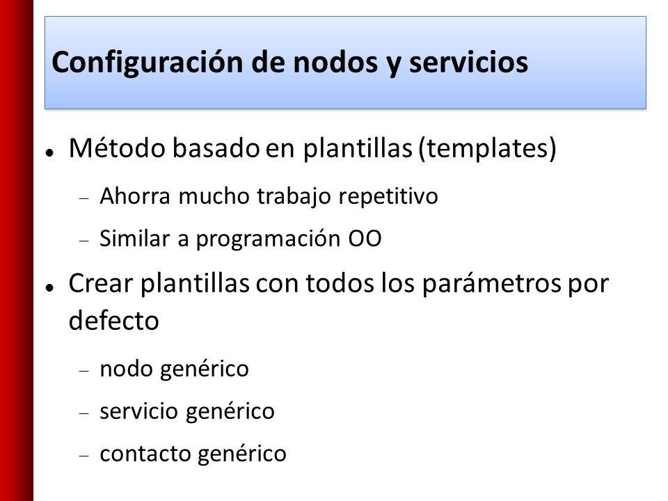 Configuración de nodos y servicios