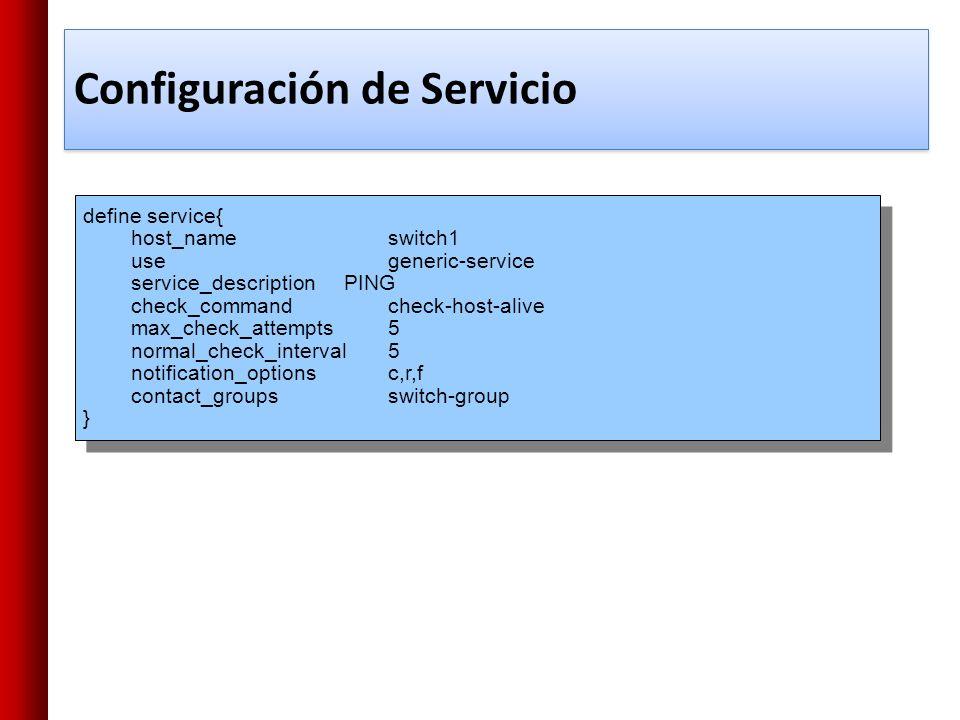 Configuración de Servicio