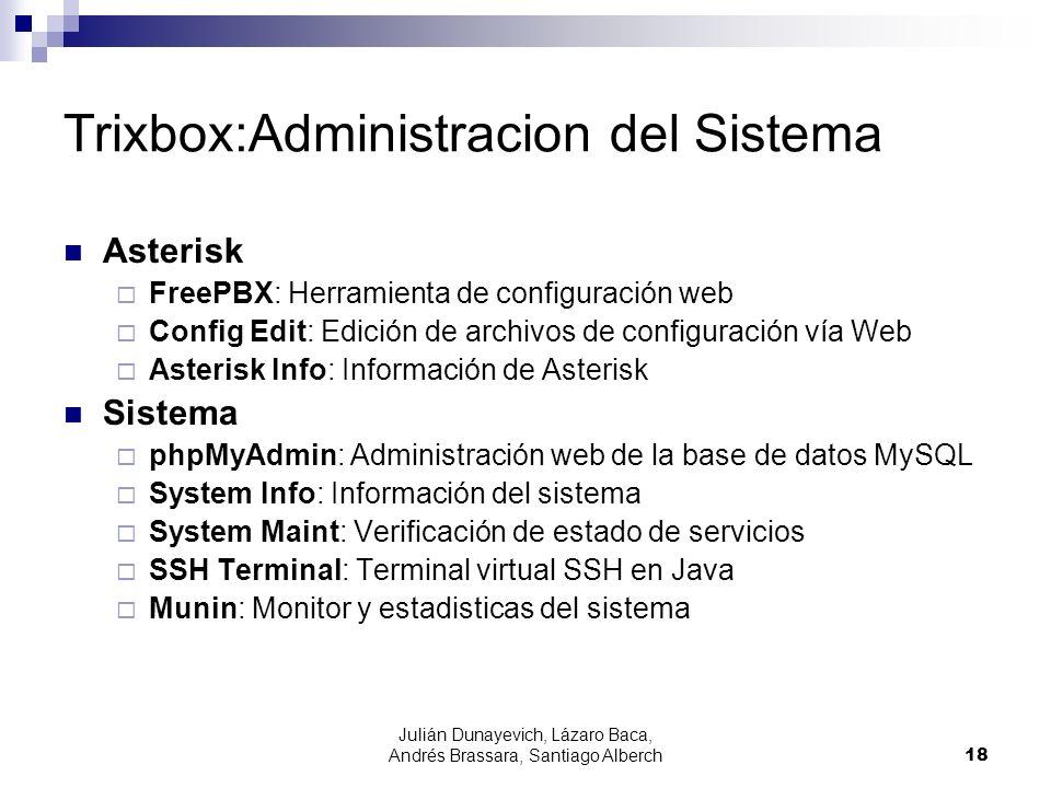 Trixbox:Administracion del Sistema