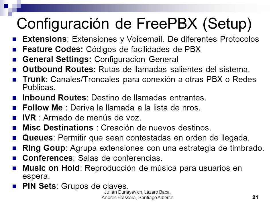 Configuración de FreePBX (Setup)