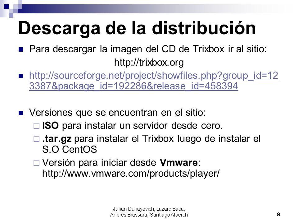 Descarga de la distribución