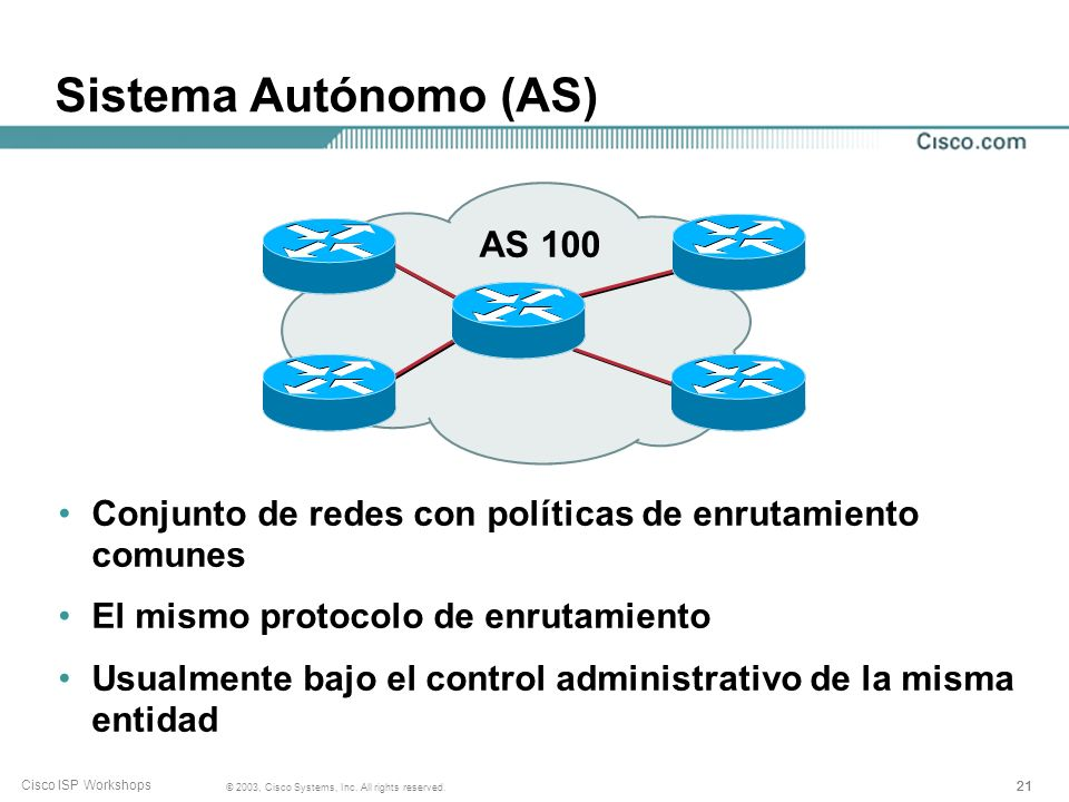 Sistema Autónomo (AS) AS 100