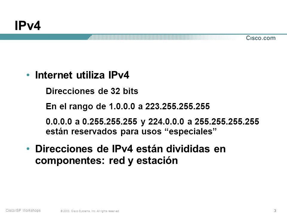 IPv4 Internet utiliza IPv4