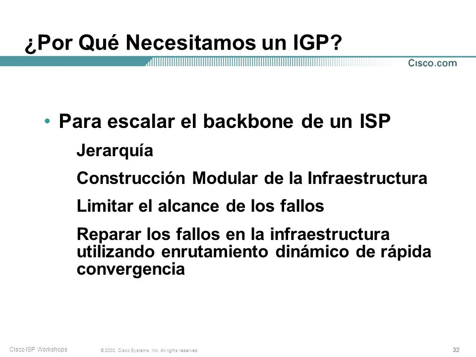 ¿Por Qué Necesitamos un IGP