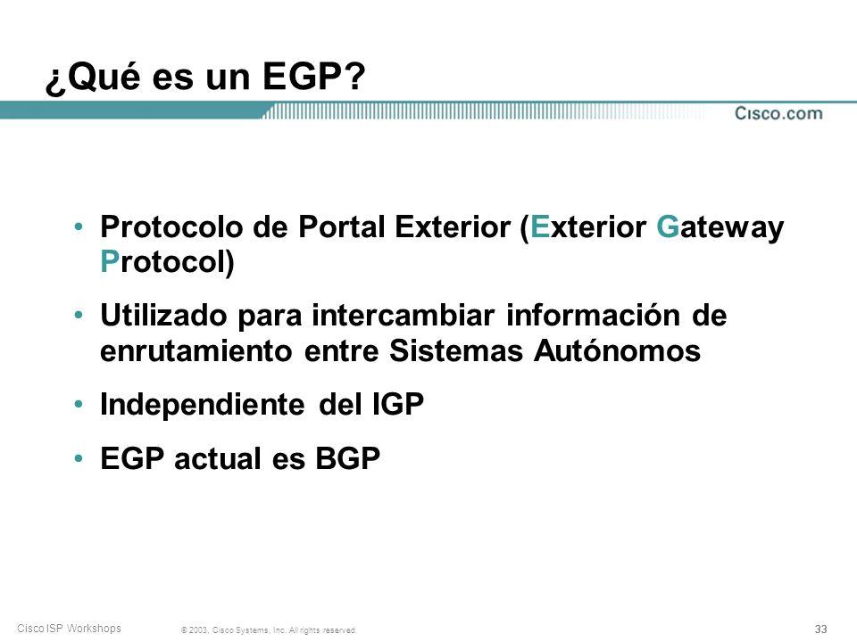 ¿Qué es un EGP Protocolo de Portal Exterior (Exterior Gateway Protocol)