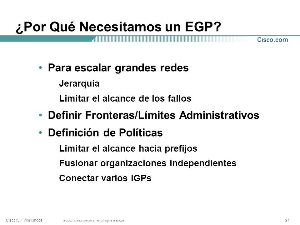 ¿Por Qué Necesitamos un EGP
