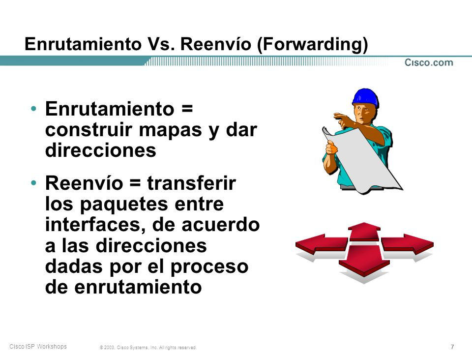 Enrutamiento Vs. Reenvío (Forwarding)