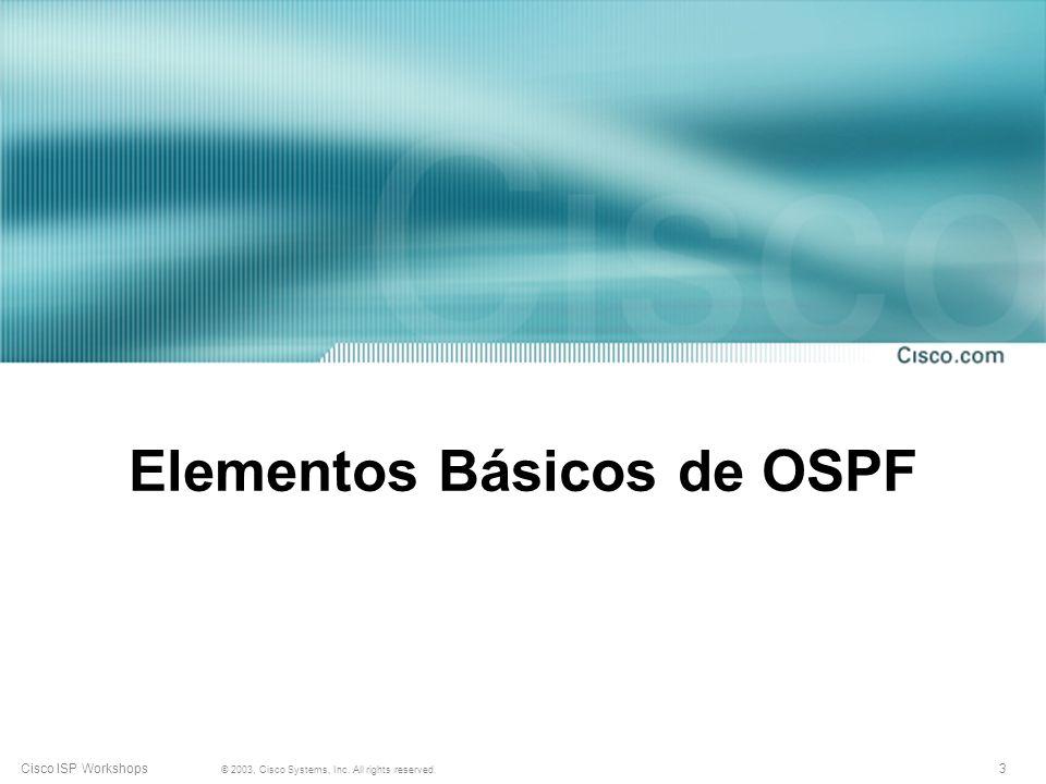 Elementos Básicos de OSPF