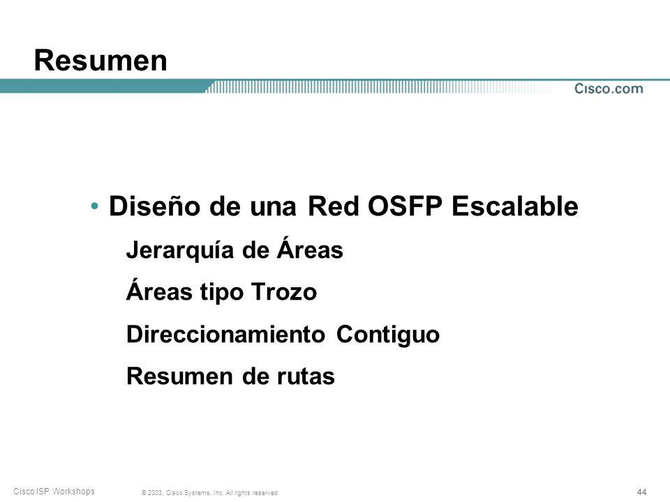 Resumen Diseño de una Red OSFP Escalable Jerarquía de Áreas