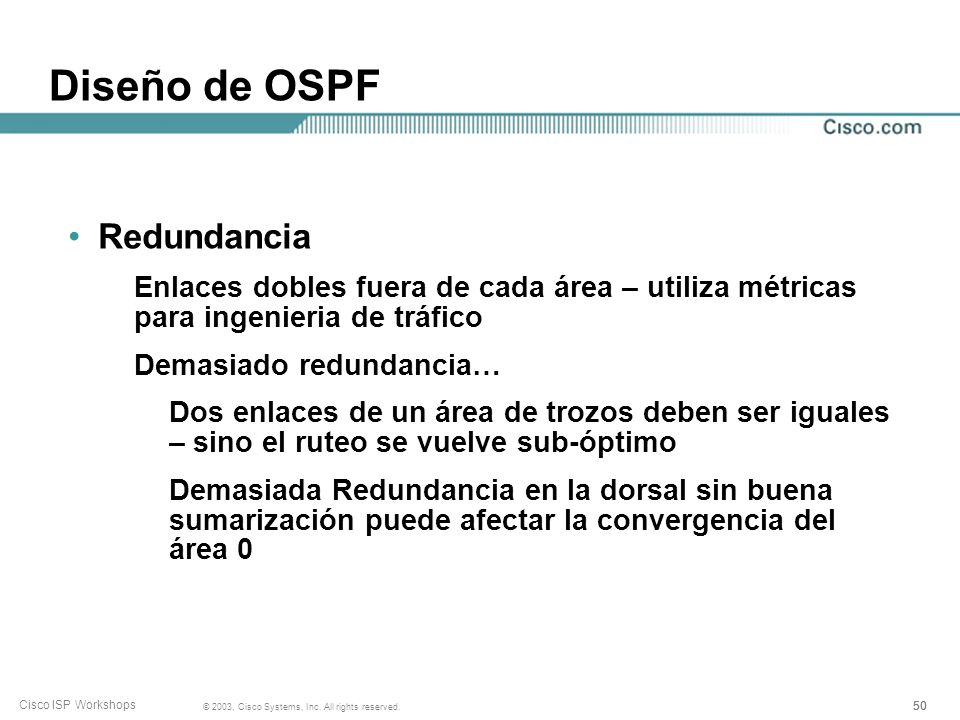 Diseño de OSPF Redundancia