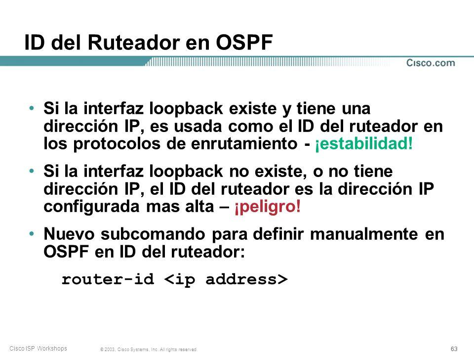 ID del Ruteador en OSPF