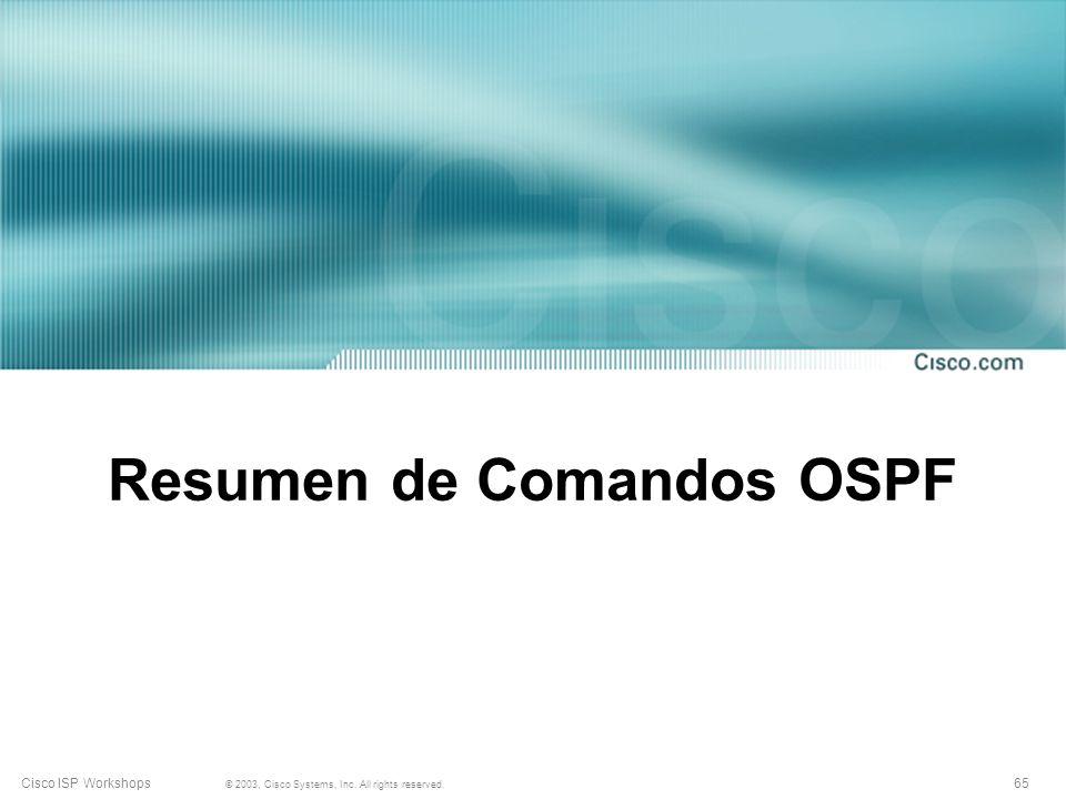 Resumen de Comandos OSPF
