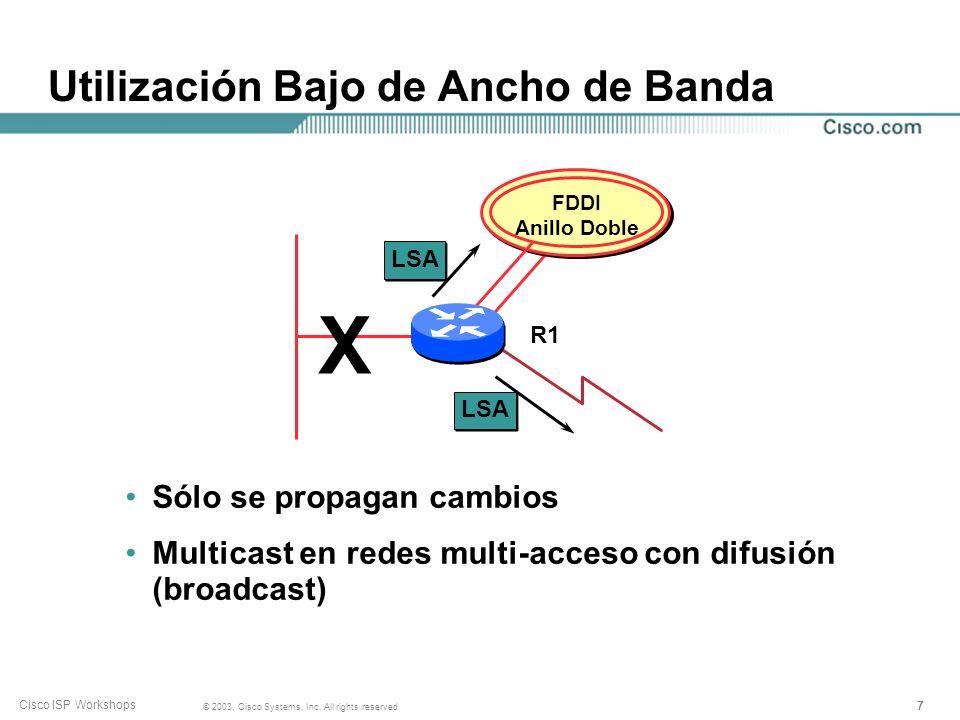 Utilización Bajo de Ancho de Banda