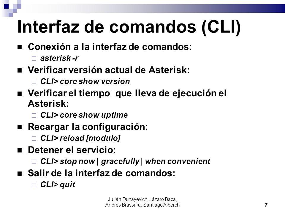 Interfaz de comandos (CLI)