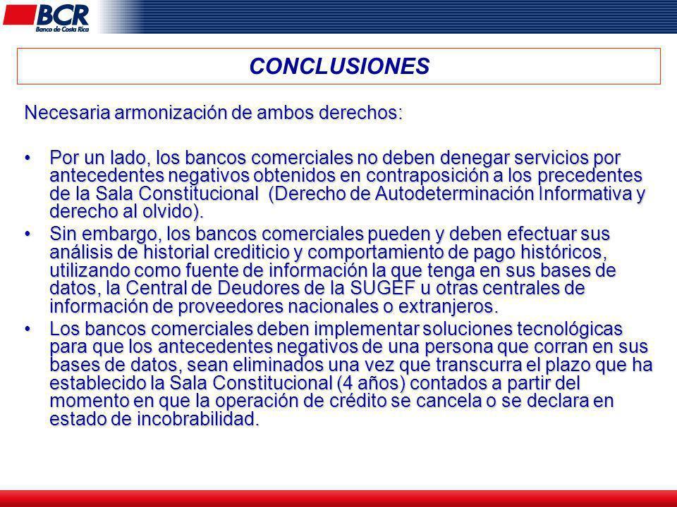 CONCLUSIONES Necesaria armonización de ambos derechos: