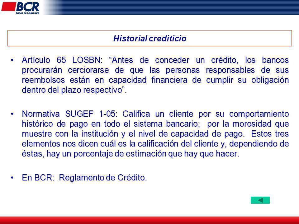 Historial crediticio