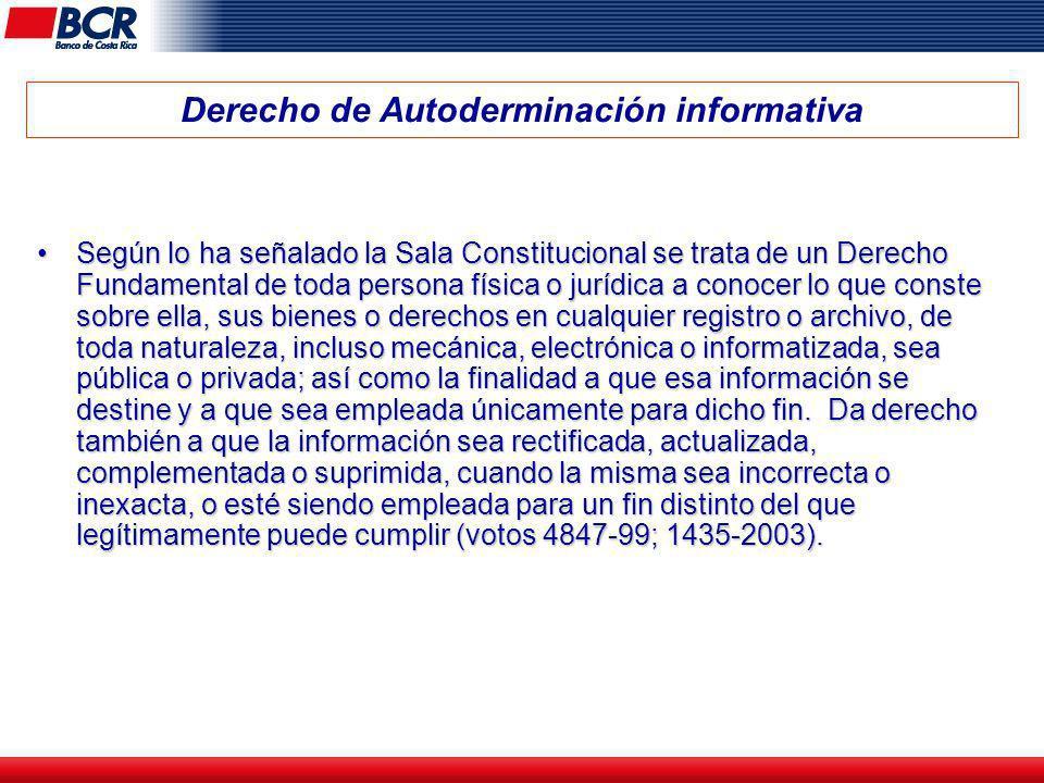Derecho de Autoderminación informativa