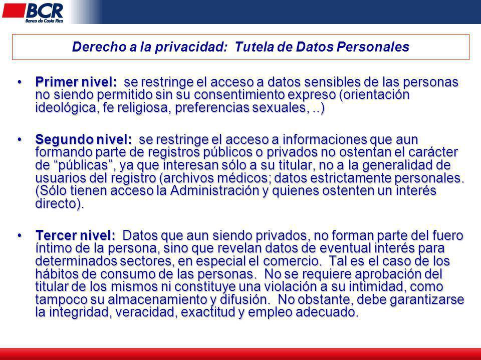 Derecho a la privacidad: Tutela de Datos Personales
