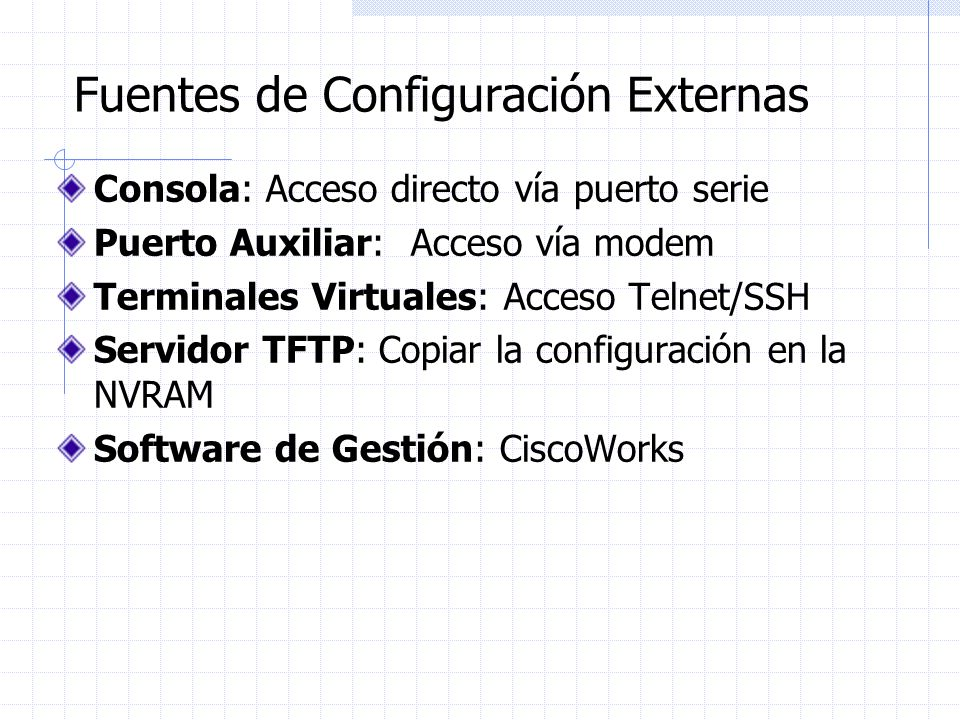 Fuentes de Configuración Externas