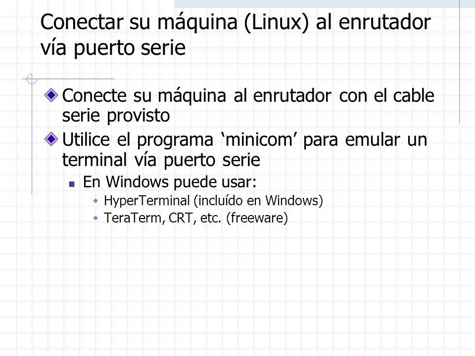 Conectar su máquina (Linux) al enrutador vía puerto serie