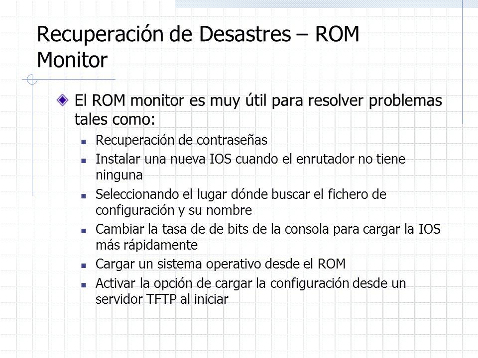 Recuperación de Desastres – ROM Monitor