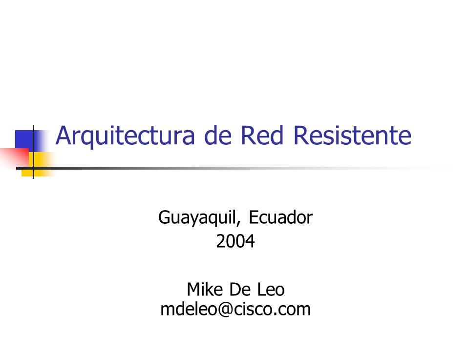Arquitectura de Red Resistente