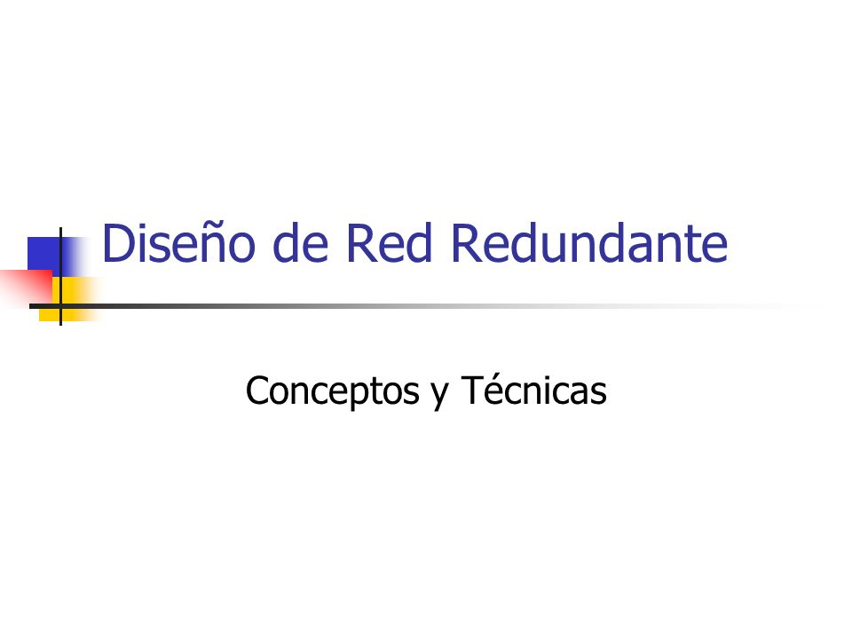 Diseño de Red Redundante