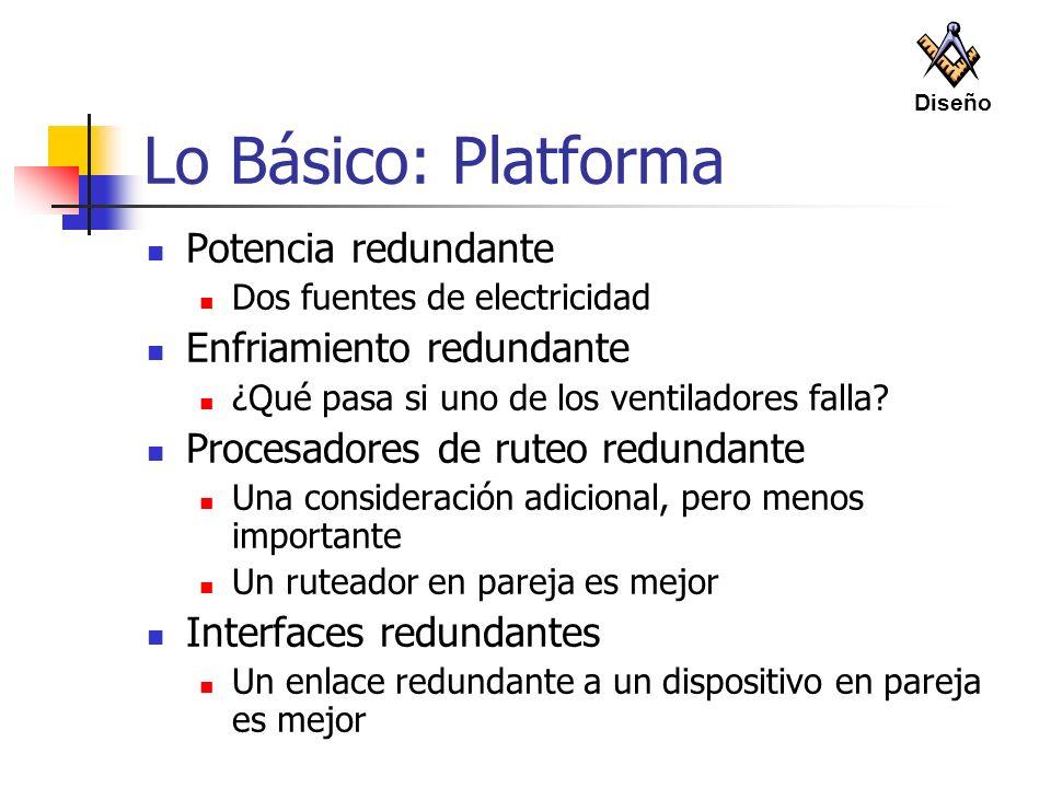 Lo Básico: Platforma Potencia redundante Enfriamiento redundante