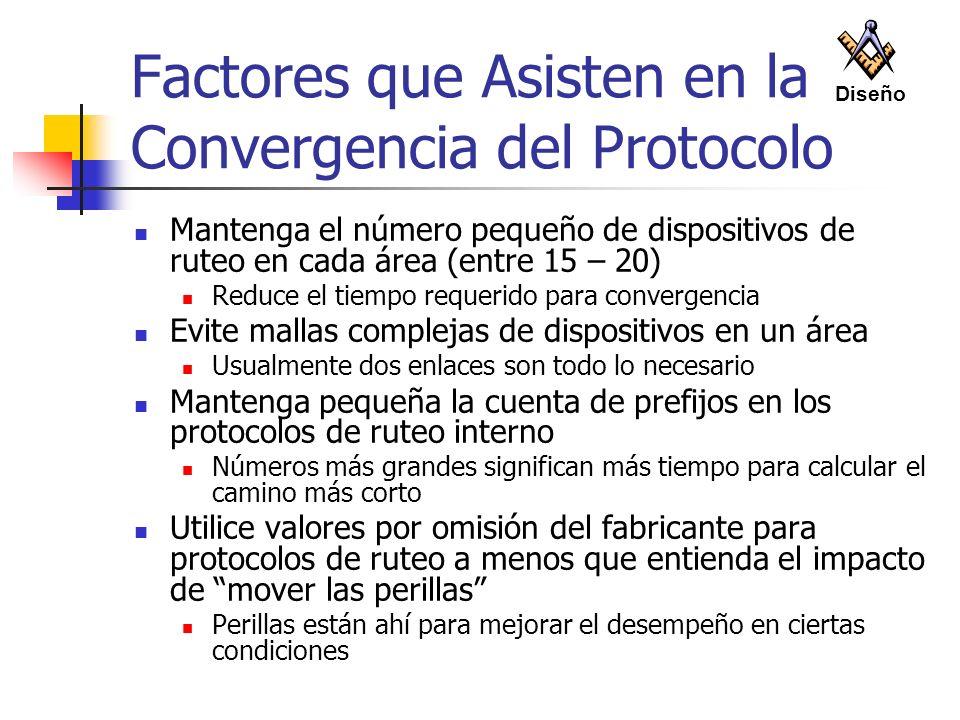 Factores que Asisten en la Convergencia del Protocolo