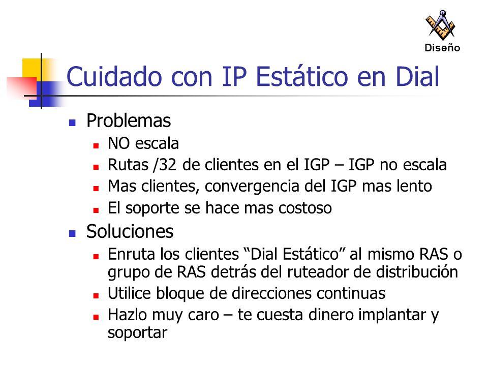 Cuidado con IP Estático en Dial