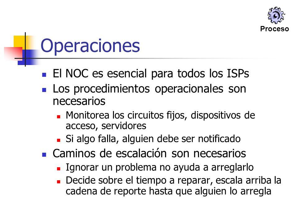 Operaciones El NOC es esencial para todos los ISPs