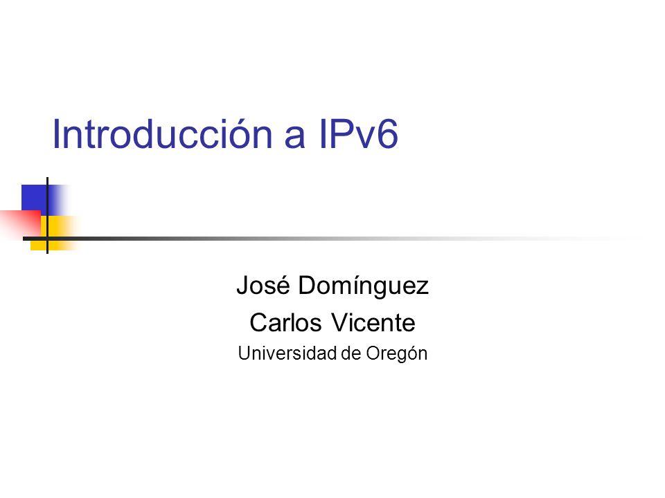 José Domínguez Carlos Vicente Universidad de Oregón