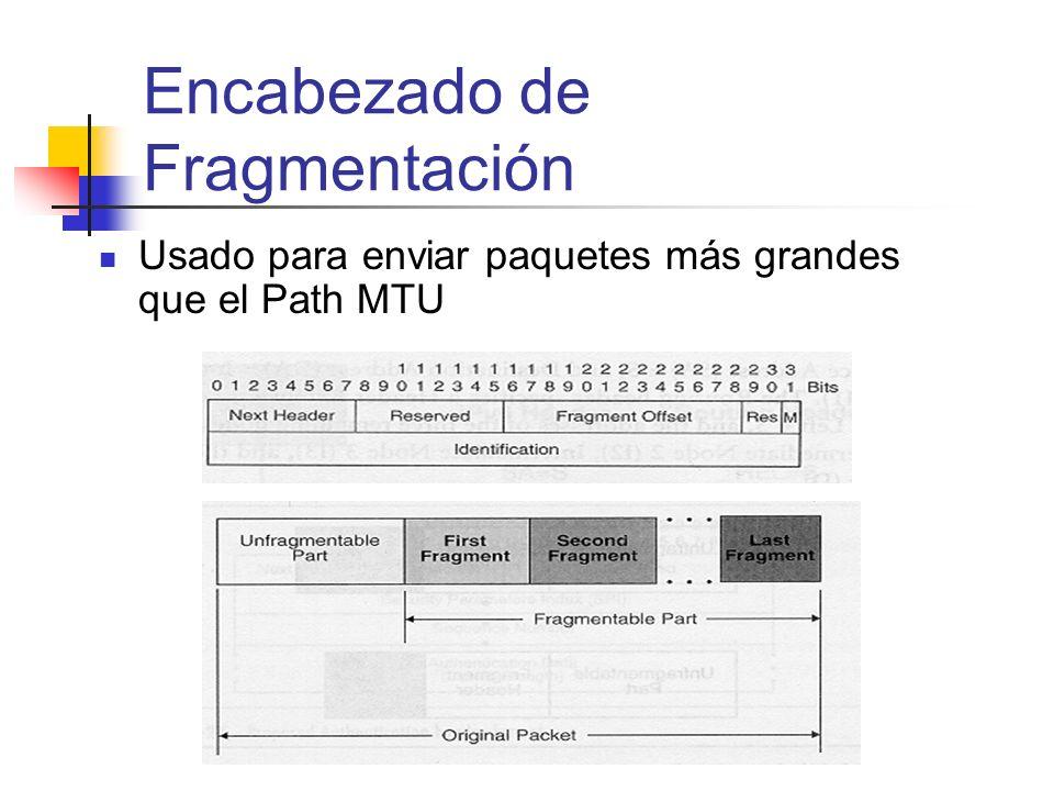 Encabezado de Fragmentación