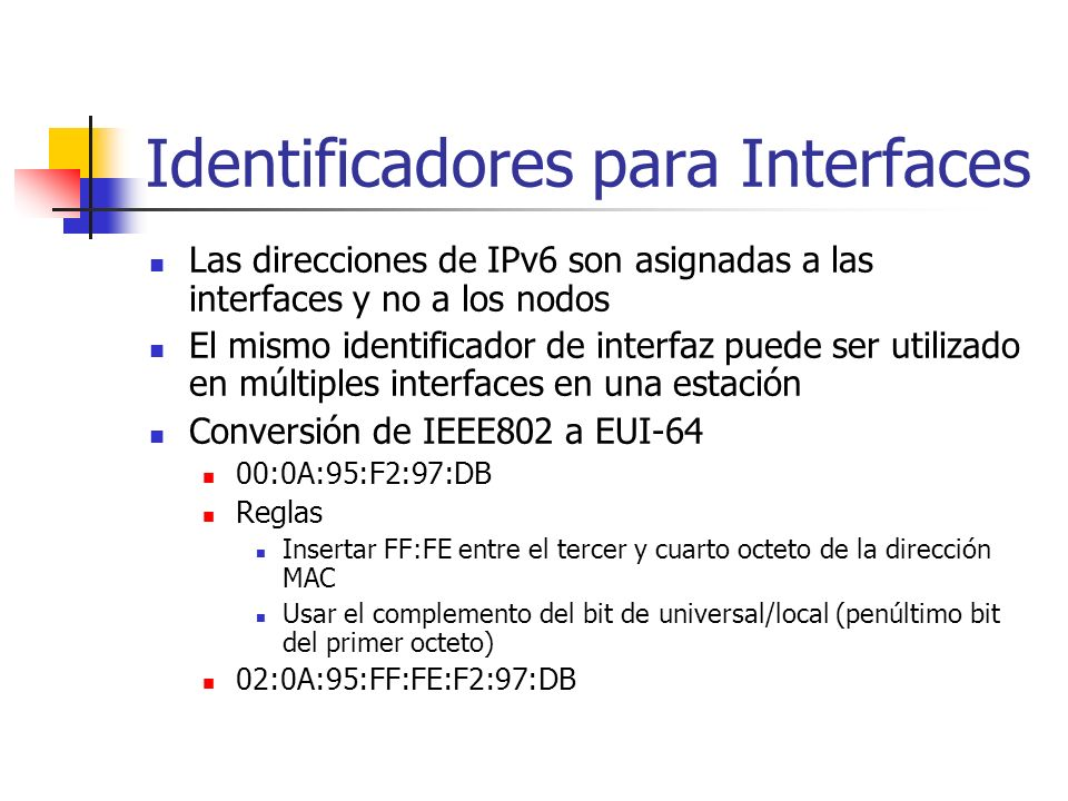 Identificadores para Interfaces
