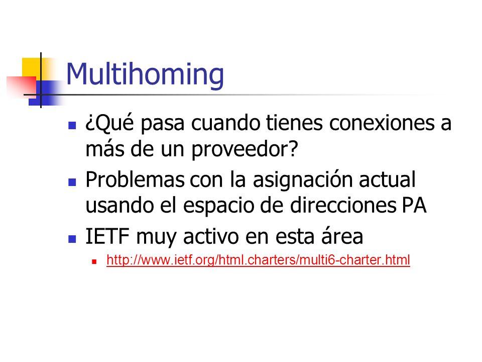 Multihoming ¿Qué pasa cuando tienes conexiones a más de un proveedor