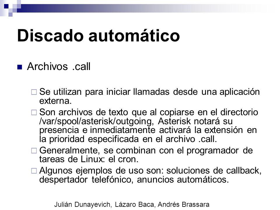Discado automático Archivos .call