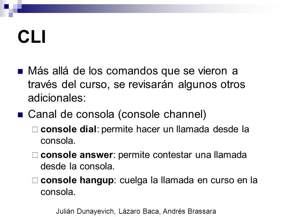 CLI Más allá de los comandos que se vieron a través del curso, se revisarán algunos otros adicionales: