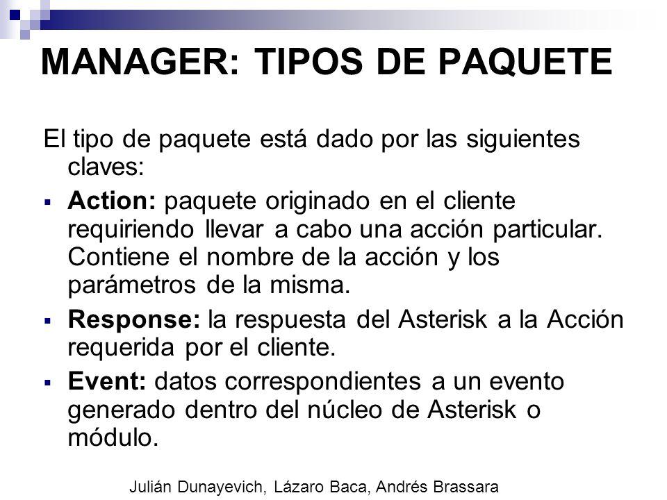 MANAGER: TIPOS DE PAQUETE