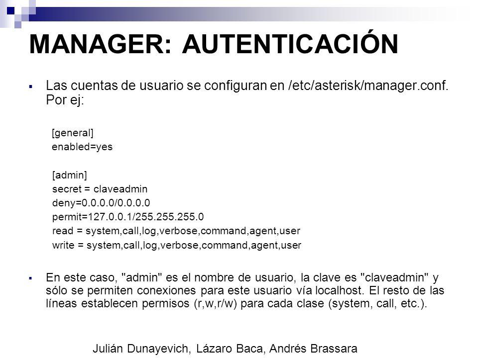 MANAGER: AUTENTICACIÓN
