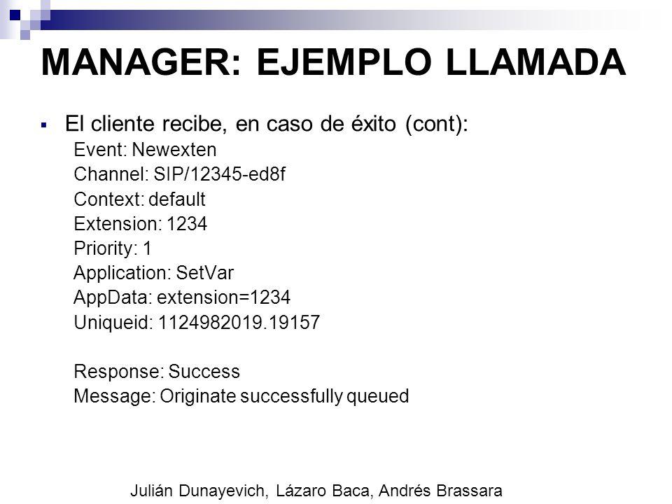 MANAGER: EJEMPLO LLAMADA