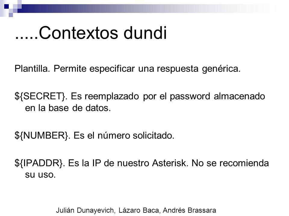.....Contextos dundi Plantilla. Permite especificar una respuesta genérica.
