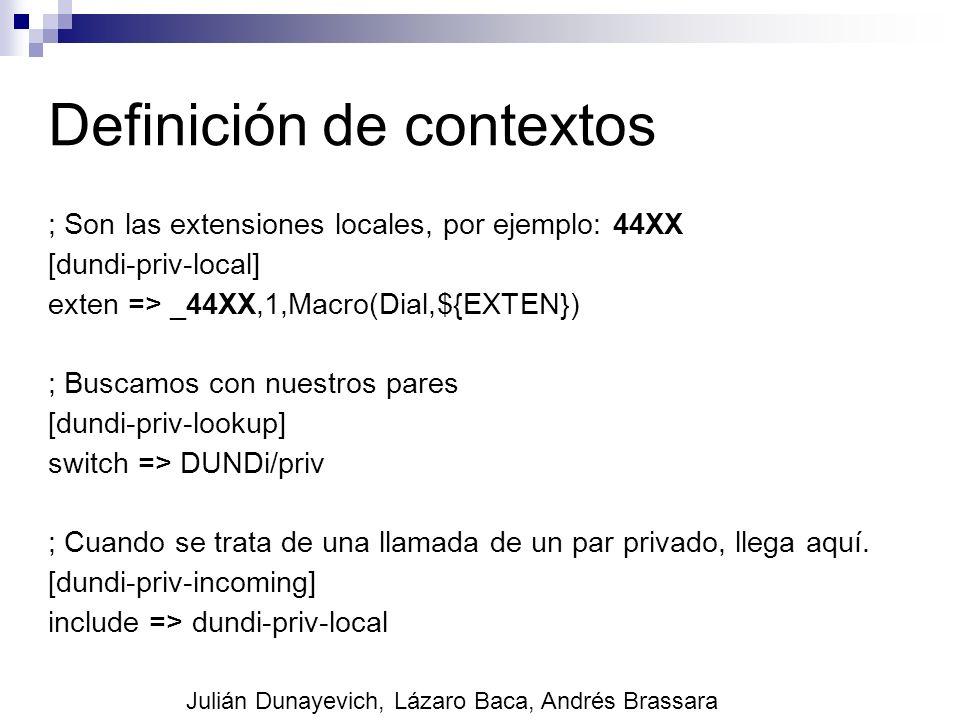 Definición de contextos