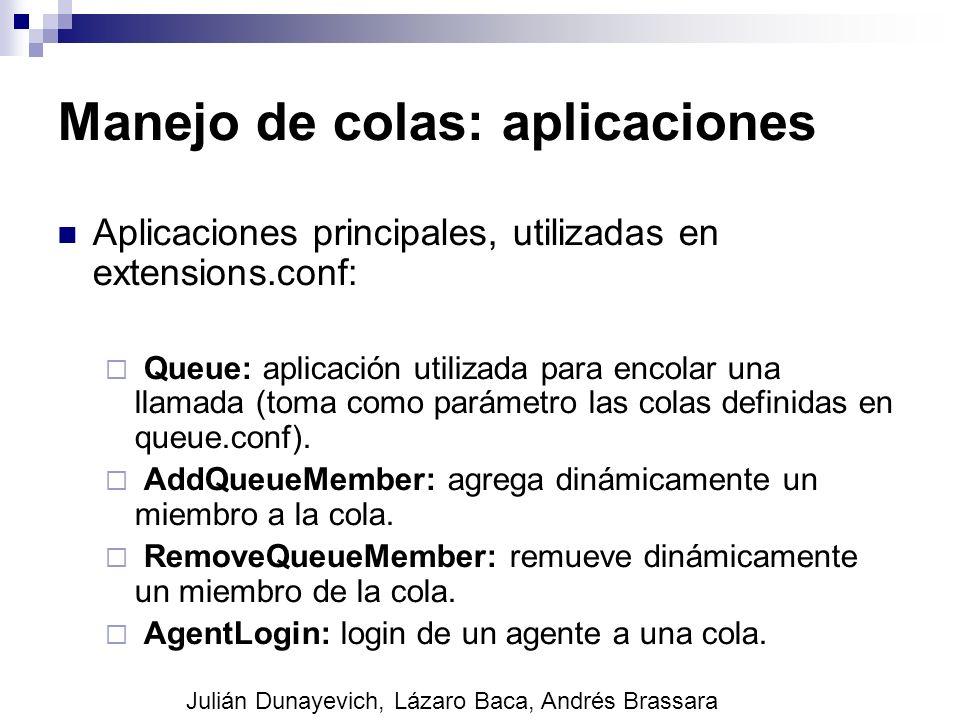 Manejo de colas: aplicaciones
