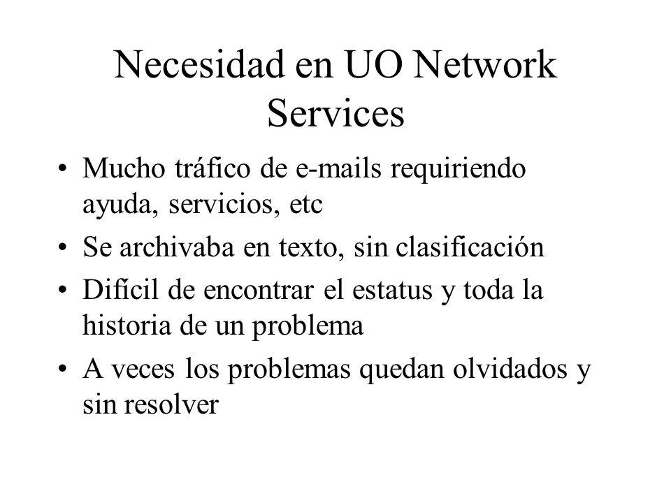 Necesidad en UO Network Services