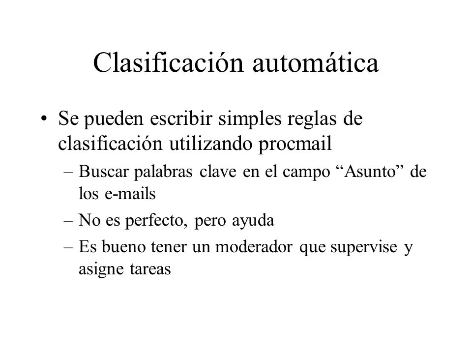 Clasificación automática