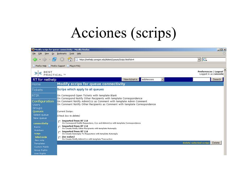 Acciones (scrips)