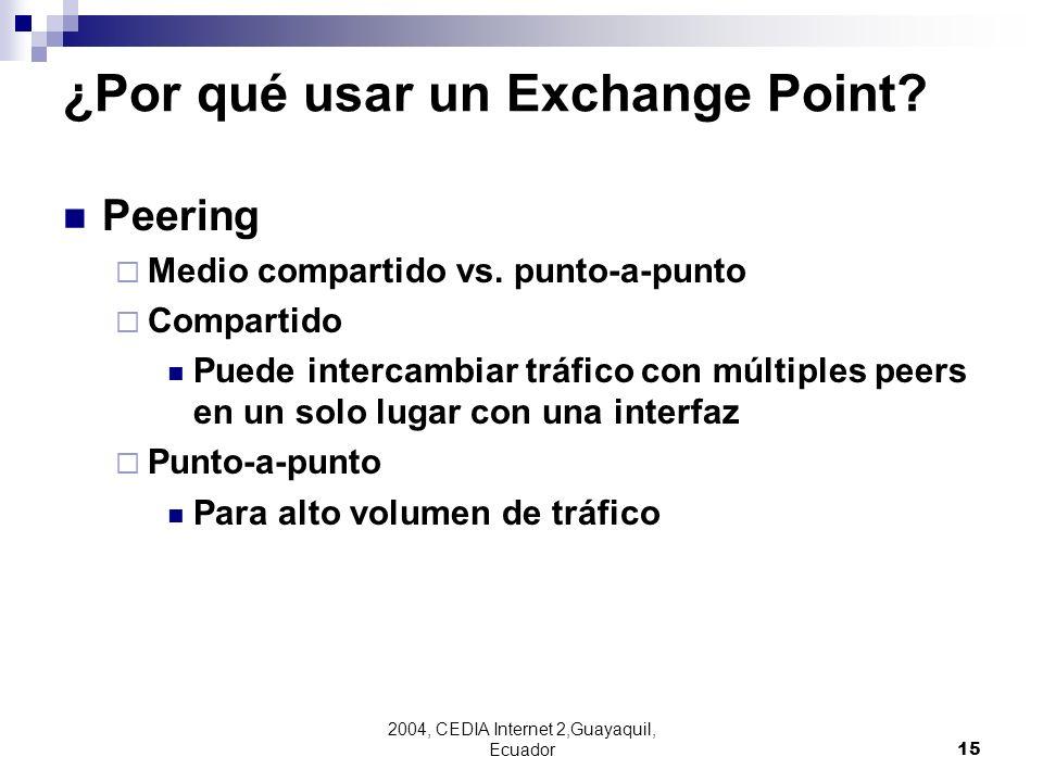 ¿Por qué usar un Exchange Point