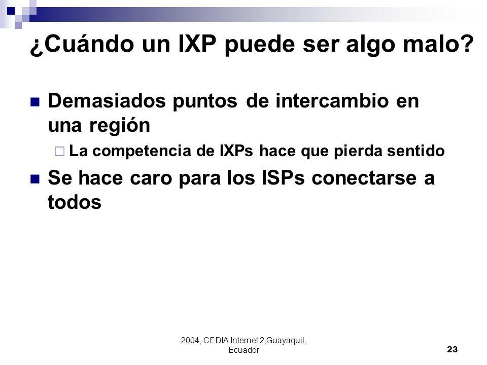 ¿Cuándo un IXP puede ser algo malo
