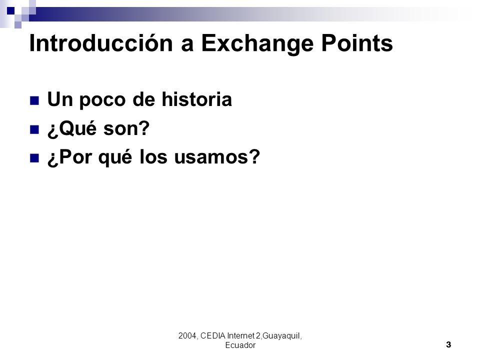 Introducción a Exchange Points